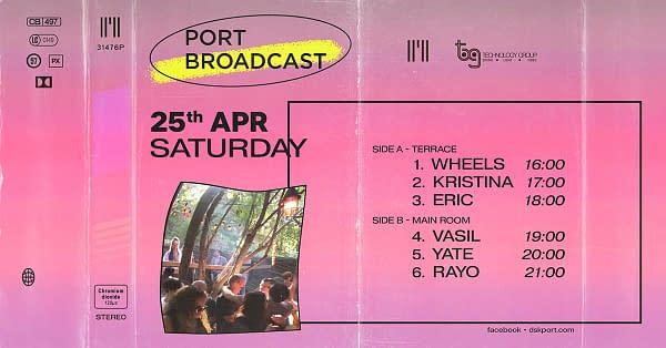 Port Broadcast w/ Wheels, Kristina, Eric, Vasil, Yate, Rayo